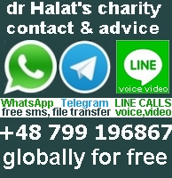 dr Halat's global office WhatsApp +48 799 196867 via WiFi or mobile networks free sms, no charge file transferring straight from your mobile, globally