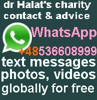 dr Halat's global office WhatsApp +48 536 608 999 via WiFi or mobile networks free sms, no charge file transferring straight from your mobile, globally